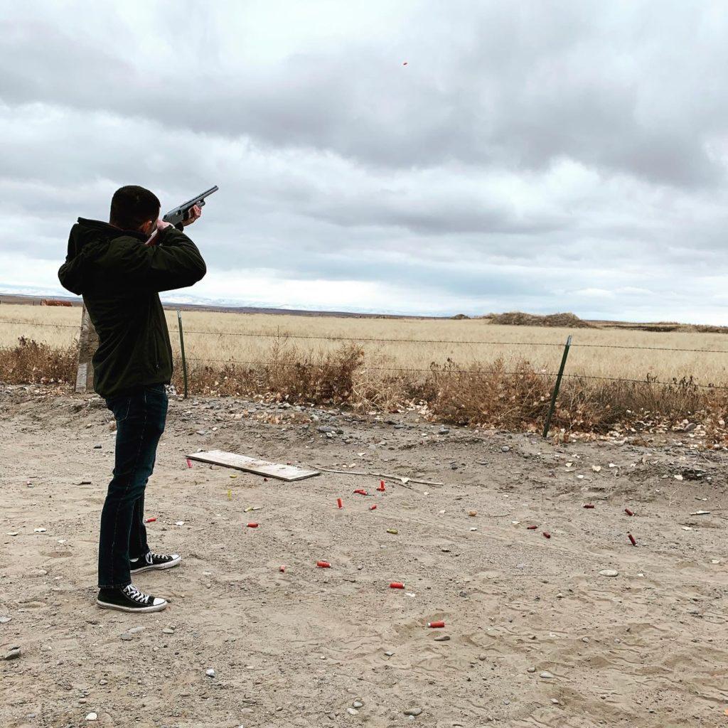 Matthew Bundy's son shooting at target